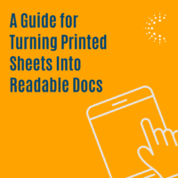 Guide for turning printed sheets into readable docs
